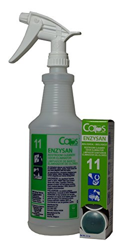 CAPS Enzysan: Eco-Friendly Cleaner/Deodorizer Starter Pack. Contains Bottle, Spray Trigger & One 4-CAP Cartridge (Makes 4 Ready To Use Quarts)