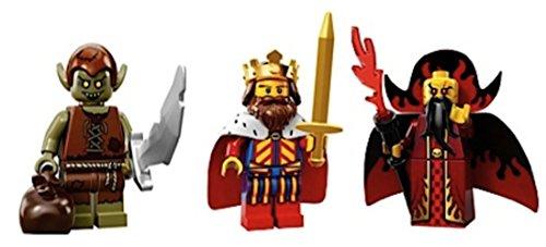 Goblin, Classic King, Evil Wizard: Lego Collectible Minifigures Series 13 Custom Bundle 71008