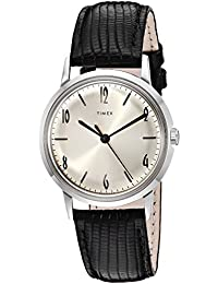 Unisex Marlin Stainless Steel Hand-Wound Movement Black/Silver One Size