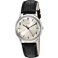 Timex Unisex Marlin Stainless Steel Hand-Wound Movement Black/Silver One Size
