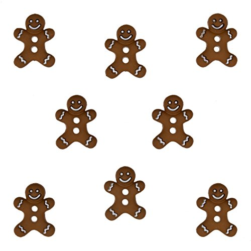 Jesse James Company Dress It Up Embellishment Buttons Iced - Gingerbread Embellishments