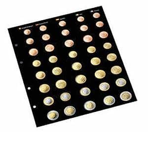 Leuchtturm 323726 Hojas separadoras recambio para álbum de Monedas de Euro OPTIMA