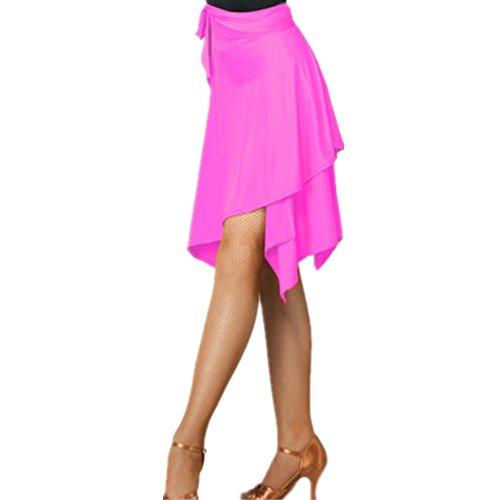 - YOUMU Women Latin Salsa Tango Dance Skirt Dress Skate Wrap Scarf Dancewear Swing Rumba ChaCha Ballroom Costume Pink