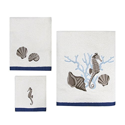 Allure Home Creation Folly Beach Cotton Three Piece Towel Set