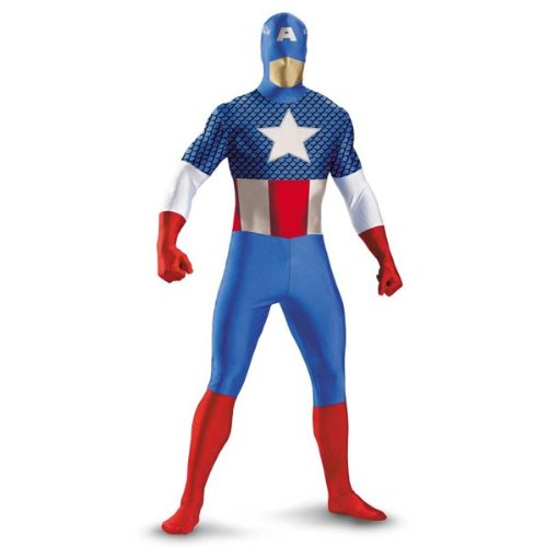 [Captain America Deluxe Kids Costume, Large 10-12] (Captain America Costumes For Adults)