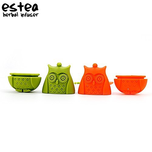 Tea Infuser by estea | Filter Diffuser Loose Tea Leaves | Strainer for Herbs and Herbal Remedies (Owl)