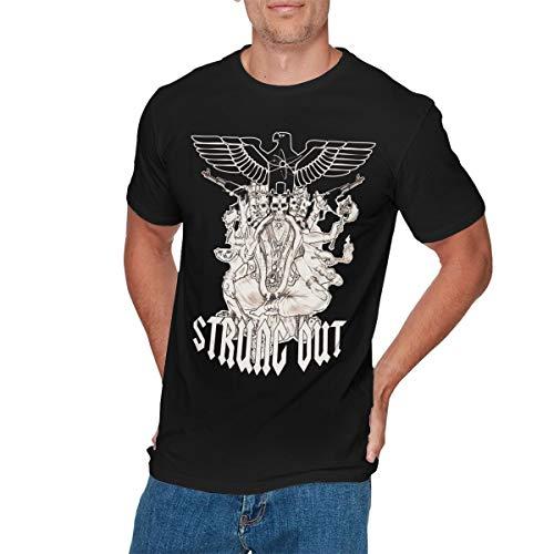 CHELSEA PARKINSON Mens Fashion Strung Out Tshirts 3XL Black