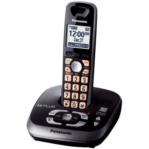 Panasonic KX-TG4031B DECT 6.0 PLUS Expandable Digital Cordless Phone with Answering System, Black, 1 Handset