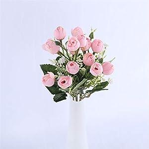 Rvbyjfg Artificial Flowers Wedding Bride Fake Flower Bouquet Decoration Art Accessories Pink Flowers 94