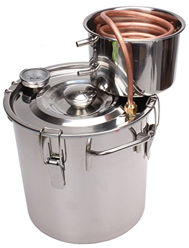 KMM 3 Gal Home Stainless Steel Alcohol Whiskey Essential Oil Water Distiller Moonshine Still Kit S0010 -