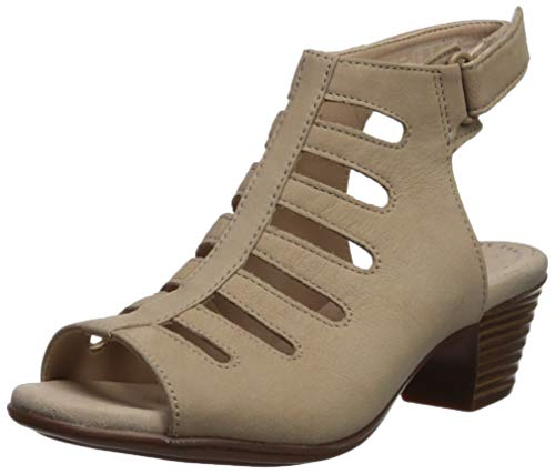 (CLARKS Women's Valarie Shelly Heeled Sandal, Sand Nubuck, 110 M US)