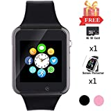 Smart Watch for Android Phones, Bluetooth Smartwatch with SD SIM Card Slot Watch Phone Call Message Camera Pedometer Compatible with iOS iPhone (Partial Functions) Sweatproof for Kids Women Men