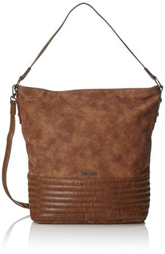 Tamaris Carla Hobo Bag - Shoppers y bolsos de hombro Mujer Marrón (Cognac Comb.)
