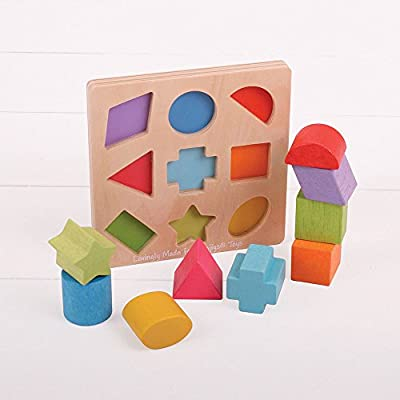 Bigjigs Toys My First Wooden Shape Sorter: Toys & Games