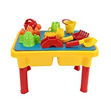 Waterpark toys - SODIAL(R) Sand and Water Table with Beach Play Set for Kids
