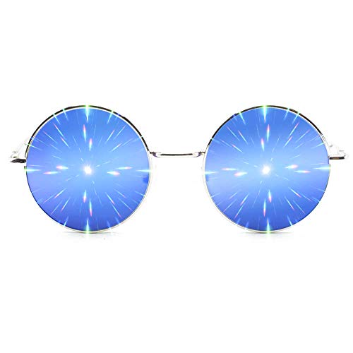 GloFX Limited Edition Specialty Diffraction Glasses - Rave Eyes Party Club 3D Trippy (Blue)