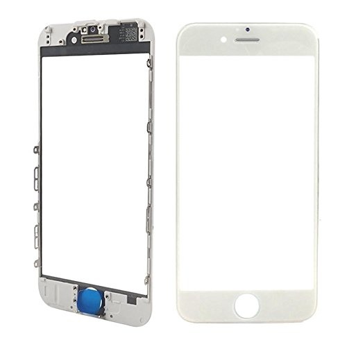 MMOBIEL Front Glass for iPhone 6S (White) Display Touchscreen incl. Pre-installed Bezel Frame + Earpiece Mesh Replacement