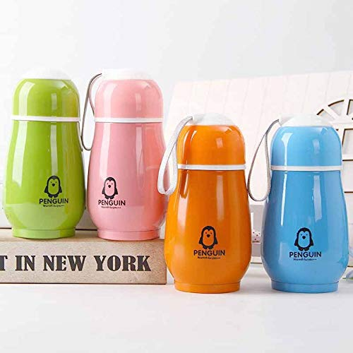 FIOLTY Portable thermocup 260ML Cute Penguin Thermos Stainless Steel tumbler Therm Insulation Drinkware Water Bottle Vacuum Flask: 260ML,