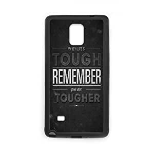 Samsung Galaxy Note 4 Cell Phone Case Black When Life Is Tough 2 OJ548249