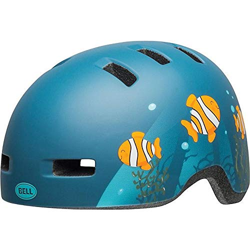 Bell Lil Ripper Toddler & Child Bike Helmet (Clown Fish Matte Grey-Blue (2019), Universal Child (57-54 cm))