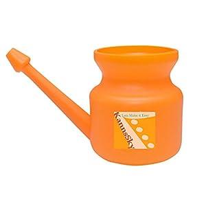KannsSky (TM) Plastic Jala Neti Pot for Nasal Wash | Size: 500 ML | Orange