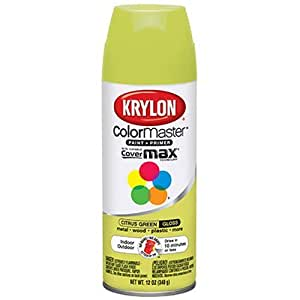 Krylon K05356900 5 Ball Decorator Citrus Green Gloss Spray Enamel 12 Ounce