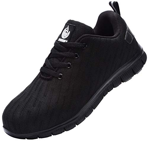 DYKHMILY Steel Toe Shoes Men Women Indestructible Safety Slip Resistant Work Shoes D9003