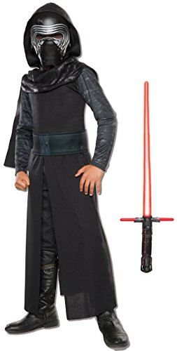 [Rubie's Costume Star Wars VII: The Force Awakens Kylo Ren Costume & Lightsaber Bundle, Multicolor,] (Costumes Starting With L)