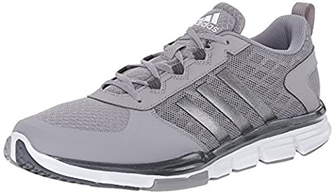 adidas Performance Men's Speed Trainer 2 Training Shoe, Light Onyx Grey/Carbon Metallic/White, 9.5 M - Grey Sports Shoes
