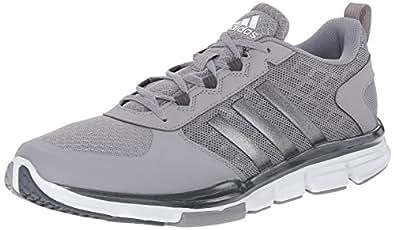 adidas Performance Men's Speed Trainer 2 Training Shoe, Light Onyx Grey/Carbon Metallic/White, 4 M US