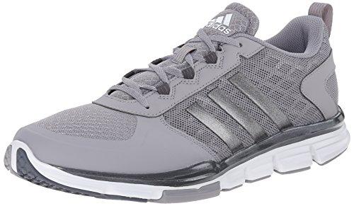 adidas Performance Men's Speed Trainer 2 Training Shoe, Light Onyx Grey/Carbon Metallic/White, 9.5 M US
