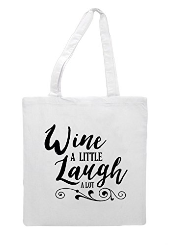 Laugh Wine White Tote Statement Lot Little A Bag Shopper ZvvwqzFUxO