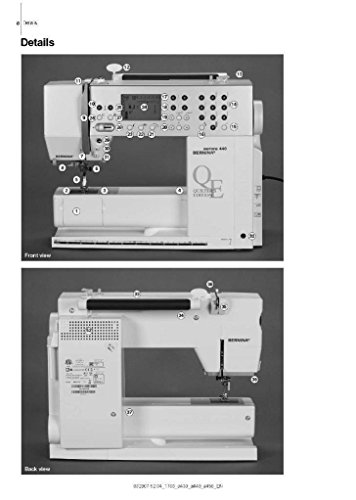 Bernina Aurora 430 440 QE 450 Sewing Machine Copy Reprint Of User's Guide Owners Manual Instructions Comb Bound