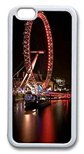 iphone 6 plus 5.5inch Case and Cover Ferris Wheel Of Happiness 02 TPU Silicone Rubber Case Cover for iphone 6 plus 5.5inch White