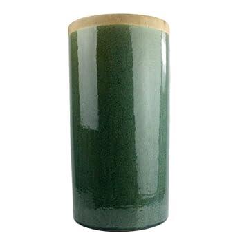 HomArt Mulberry Ceramic Cylinder Vase, Large, Teal