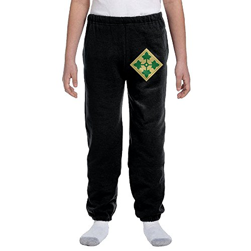 Price comparison product image 4th Infantry Division Youth Cotton Sweatpants Medium