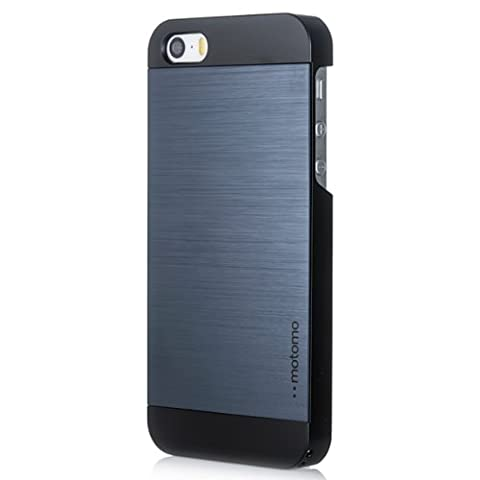 iPhone 5C Case, MOTOMO [Blue] iPhone 5C Case Aluminum [Brushed Aluminum] Metal Cover Protective Case - Verizon, AT&T, Sprint, T-Mobile, International, and Unlocked - Case for iPhone 5C - Retail Packaging - Indigo Blue/Black (Aluminum Metal Iphone 5c Case)