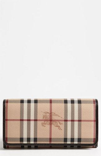 Burberry Haymarket Colours Penrose Continental Wallet Chocolate