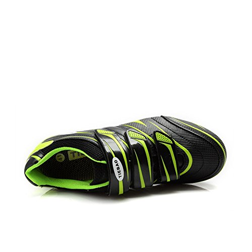 pedal Shoes Bike Road Ciclismo Green Shoes Cycling Cleated Tiebao Bicycle Lock Shoes XEw1RIq