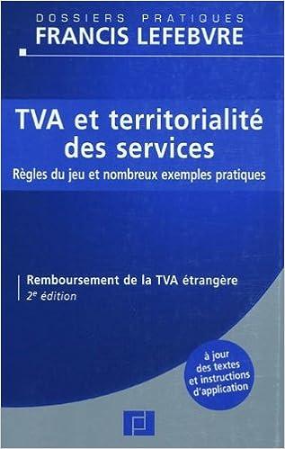 Livre TVA et territorialité des services pdf