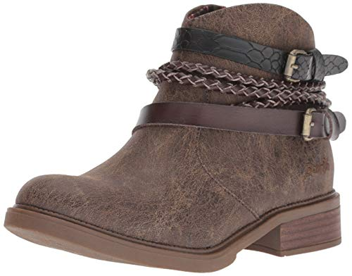 Blowfish Women's Vianna Fashion Boot, Chocolate Spindal Polyurethane, 7.5 Medium US
