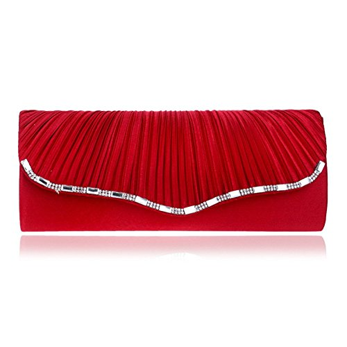 El Sobre La Hacia De Del Embrague Orfila La De Hombro Las Cadena Del Fuera De Rojo De Noche Mujeres De Fruncidos Partido Vestido Boda awrqCza