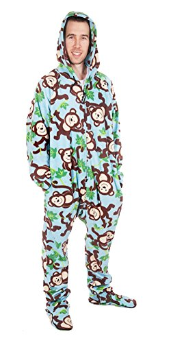 Forever Lazy Footed Adult Onesie - Big Chimpin' - -
