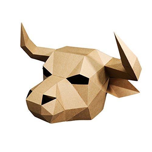 3D Paper Mask Animal Head Molds DIY for