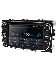 Android 10 OS Auto GPS Navigatie Auto Audio Ontvanger met Geschikt voor FORD Mondeo/Focus/S-Max/C-Max/Galaxy/Kuga/Transit Connect Ondersteuning Spiegel-link Bluetooth Stereo DVR OBD2 DAB+ (Zwart)