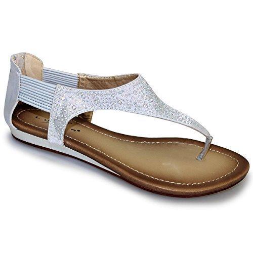 Sapphire Boutique by Sapphire - Sandalias de vestir para mujer Plateado - plata