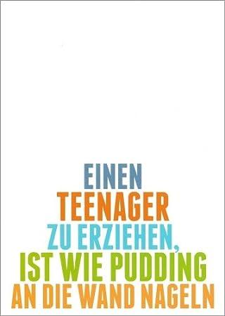 teenager sprüche 3er Packung: Postkarte Sprüche & Humor