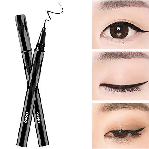 Waterproof Liquid Eyeliner, NOVO Slim Black Eye liner Lasting Drama Liquid Eyeliner Pen, Makeup tools (Black)