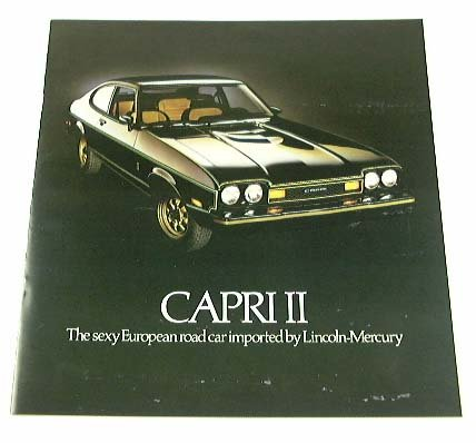 1977 77 Mercury CAPRI II BROCHURE Ghia S Decor ()