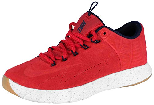 Ext Slides (NIKE Men's Lunar Hyperrev Low EXT Basketball Shoes-Gym Red/Obsidian-11)